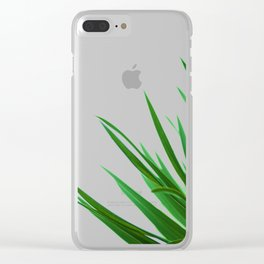 Green Leafs (Color) Clear iPhone Case