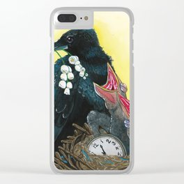 Ravens & Lilies Clear iPhone Case