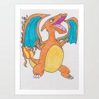 charizard Art Prints featuring Charizard  by pokelayfe