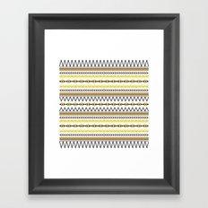 Tribal Gold Framed Art Print