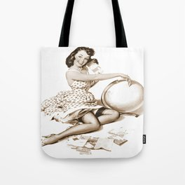 Out of This World by Gil Elvgren Pin Up Girl Tote Bag