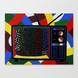 Colorful Sprinkle TV Testing Pattern Canvas Print