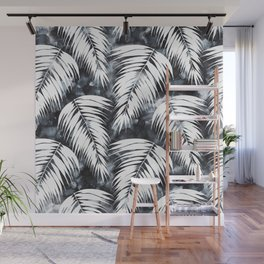 Maui Palm Black and White Wall Mural