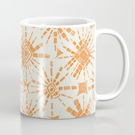 hachure shibori orange Coffee Mug