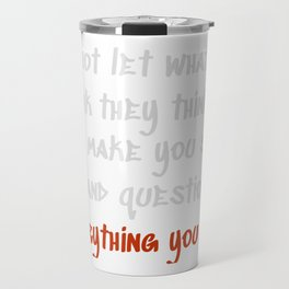 Carrie Fisher Question Quote Travel Mug