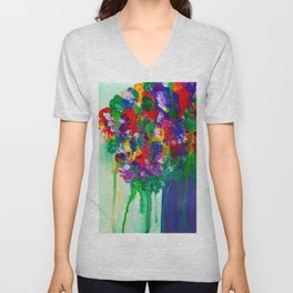 Wildflowers - Cheerful - Botanical Unisex V-Neck