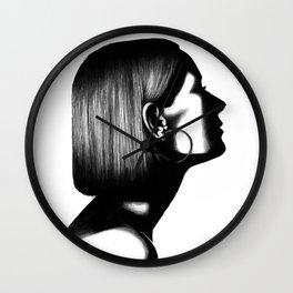 Profile in Pen Wall Clock