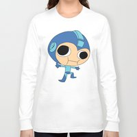 megaman Long Sleeve T-shirts featuring Silly Megaman by oshio
