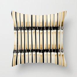 The Bead Curtain Throw Pillow