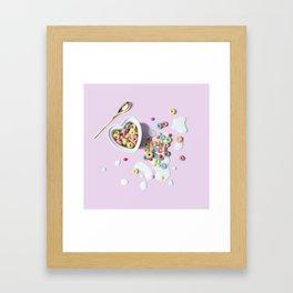 Cereal and Milk Framed Art Print