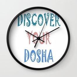 Discover Your Dosha Wall Clock