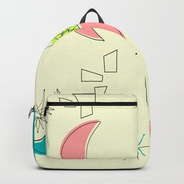 Boomerangs and Starbursts Yellow Backpack