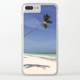 Wonky Palm Clear iPhone Case