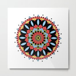 Mandala I color Metal Print