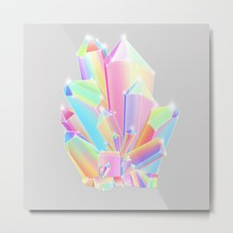 Crystal Cluster Metal Print
