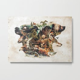 My Nature Surrealism Animal Tribute To The Predators An ... Metal Print