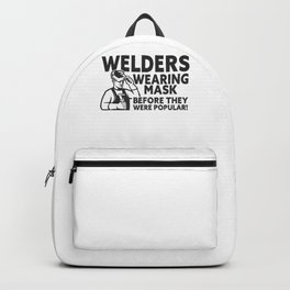 Hard Working Welder Iron Steel Hobby Welding Backpack