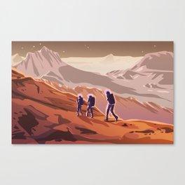 Hiking on Mars Canvas Print
