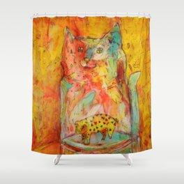 Cat Jar - Pig Shower Curtain