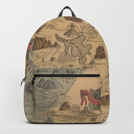 Old Biblical Map of The Sacred Writ (1847) Backpack