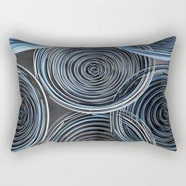 Black, white and blue spiraled coils Rectangular Pillow