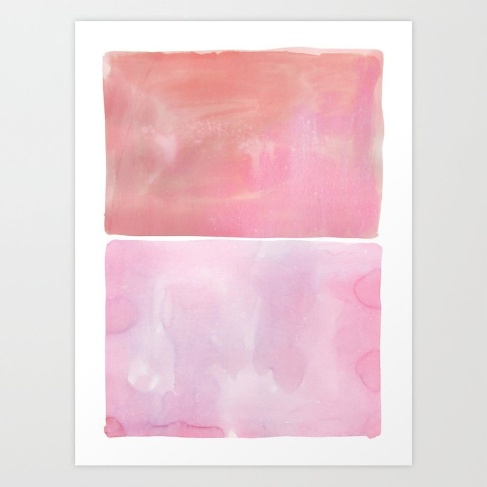 Hue in Pink Art Print