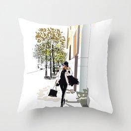 Autumn Girl Throw Pillow