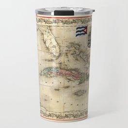 Map of Cuba by J.H. Colton (1851) Travel Mug