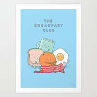 breakfast club Art Prints featuring The Breakfast Club by Jaco Haasbroek