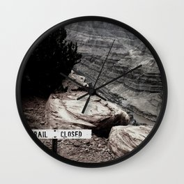 Trail Closed Wall Clock