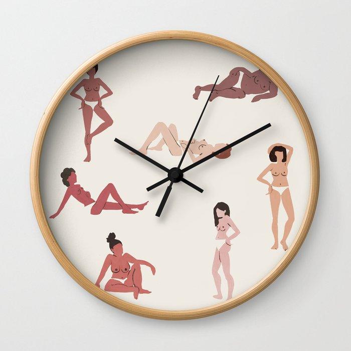 HEY LADIES Wall Clock