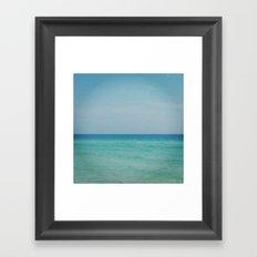 All blue Framed Art Print