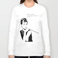 hepburn Long Sleeve T-shirts featuring AUDREY HEPBURN by MATT WARING