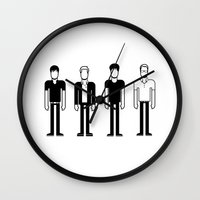 blur Wall Clocks featuring Blur by Band Land