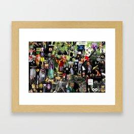 A peek inside my mind Framed Art Print
