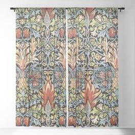 Snakeshead William Morris Pattern Sheer Curtain