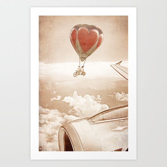 Wednesday Dream - Chasing Planes Art Print