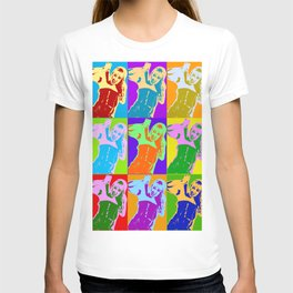 Poster with girl in popart style T-shirt