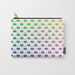 Heart Love Ombre Rainbow Pattern Carry-All Pouch