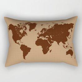 Old paper world map Rectangular Pillow