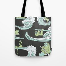 Surfin' Sloths  Tote Bag
