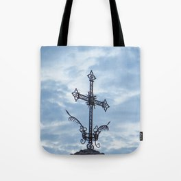 The Cross of the Plague Tote Bag