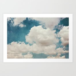 January Clouds Art Print