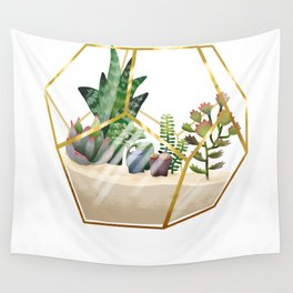 Terrarium with succulents Wall Tapestry