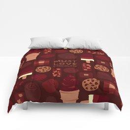 Must Love Chocolate Comforters