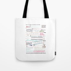 Thoughts of the Day Tote Bag