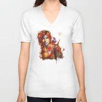 lara croft V-neck T-shirts featuring Lara Croft by ururuty