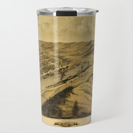 Bird's Eye View of Grand Haven, Michigan (1868) Travel Mug