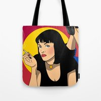 sexy Tote Bags featuring sexy  by mark ashkenazi