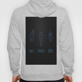 Man Woman Geek Blue Hoody